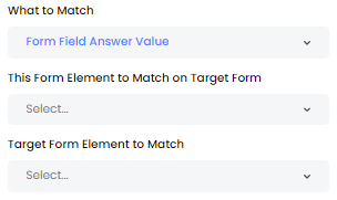 Form Field Answer Value