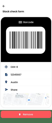 Saved barcode