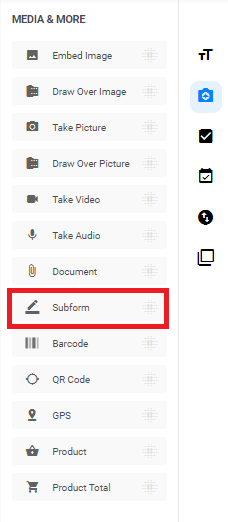 Subform